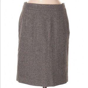 Brooks Brothers 346 Wool Blend Tweed Pencil Skirt